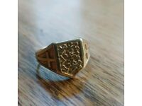 Mens gold ring for sale