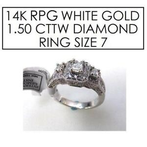 NEW* STAMPED 14K RPG DIAMOND RING 7 174948018 JEWELLERY - JEWELRY - 14K RPG WHITE GOLD - 1.50 CTTW