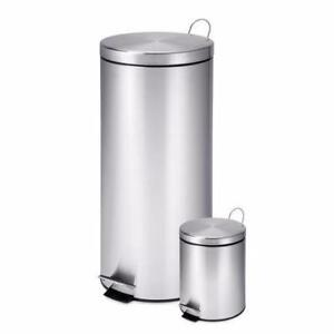 Honey-Can-Do 30 L & 3 L Trash Can Combo (Rust stains on top bin) *PickupOnly