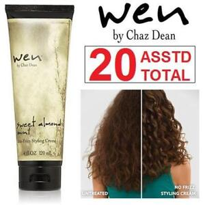 20 NEW ASSTD WEN ANTI-FRIZZ CREAM 156240033 2 ASSORTED SIZES OF SAME ITEM HAIR CARE COSMETICS 180ML TOTAL