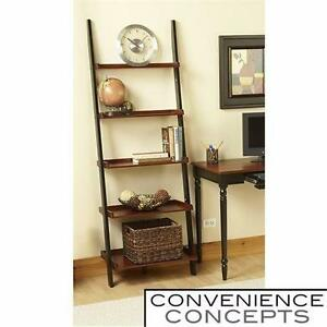 NEW CONVENIENCE CONCEPTS BOOKSHELF   FRENCH COUNTRY LADDER STYLE - BLACK CHERRY - DECOR FURNITURE SHELVES 96867184