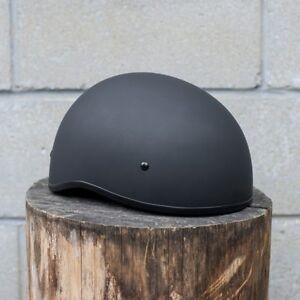 Motorcycle Helmet -Zox Nano Old School Half Helmet - Matte Black