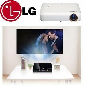 NEW LG MINIBEAM LED PROJECTOR   HDTV- SCREEN SHARE - BLUETOOTH SOUND OUT - WHITE - ELECTRONICS HOME THEATRE TV 99562571