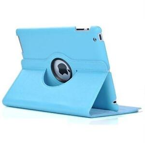 360 Ipad 2/3/4 Magnetic Leather Case- Light Blue