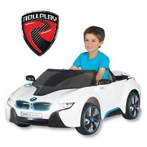 NEW BMW I8 KIDS RIDE ON CAR WHITE - ROLLPLAY - RIDE-ON - 6V BATTERY POWERED KID'S TOY CAR 108793901