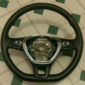 VW passat golf mk7 flat bottom steering wheel