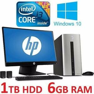 "REFURB HP PAVILION DESKTOP PC W10   COMPUTER - ELECTRONICS - WINDOWS 10 - 23"" MONITOR 1TB HD 6GB RAM 95503161"