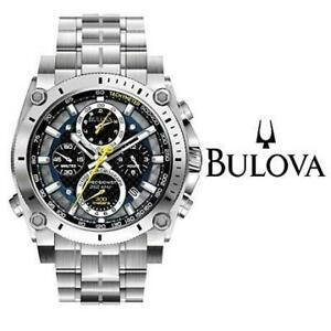USED MENS BULOVA WATCH 96B175 240792491 PRECISIONIST CHRONOGRAPH STAINLESS STEEL