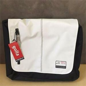 "Genuine Golla 16"" Ace White Laptop Sleeve Bag Padded Carry Case+Shoulder Strap"