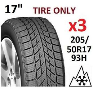 """3 NEW WEATHERMATE WINTER TIRES 15"""" HY2035 215088335 205/50R17 93H ARCTIC"""