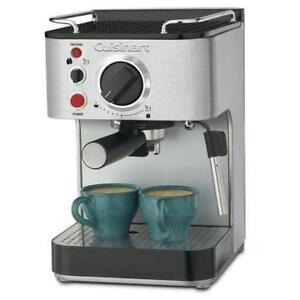 Machine à Café Espresso Manuel EM-100C Cuisinart - Manual Espresso Coffee Machine - Stainless Steel - BESTCOST.CA