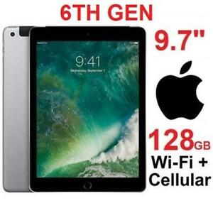 NEW APPLE IPAD 128GB 9.7 WIFI+CELL MR722CL/A 246654977 TABLET SPACE GREY 6TH GEN