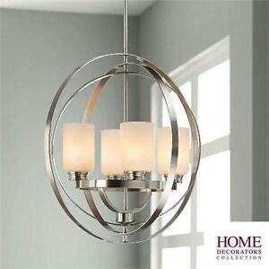 NEW* HDC 4-LIGHT CHANDELIER 4-LIGHT BRUSHED NICKEL CHANDELIER Home Lighting 76200084