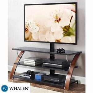 "EW WHALEN TV STAND UP TO 65""   BROWN CHERRY 3-IN-1 FLAT PANEL TV STAND FOR TV'S UP TO 65"" HOME ENTERTAINMENT 92019781"