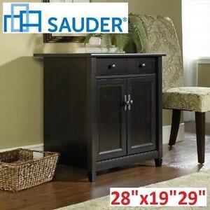 NEW SAUDER UTILITY STANDING CABINET EDGE WATER UTILITY CART - ESTATE BLACK FINISH 102782321