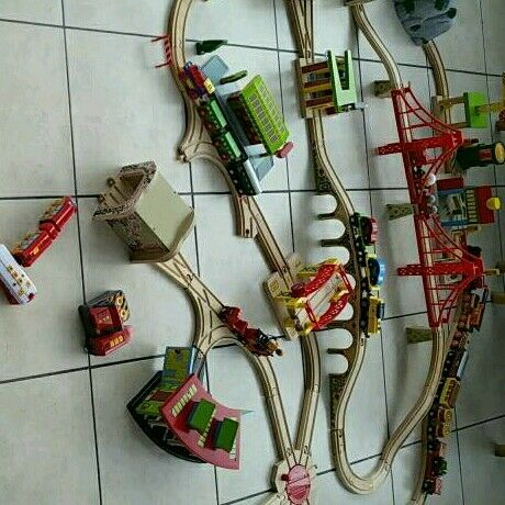 Wooden Bigjigs and Brio Railway Set