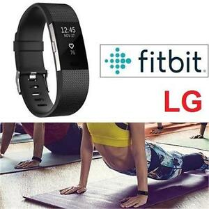 NEW FITBIT CHARGE 2 FITNESS TRACKER LG - BLACK - HEART RATE MONITOR 106681090