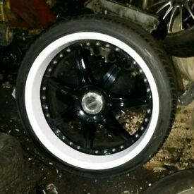 "Mercedes 20"" lenso staggered S73 deep dish wheels set with tyres"