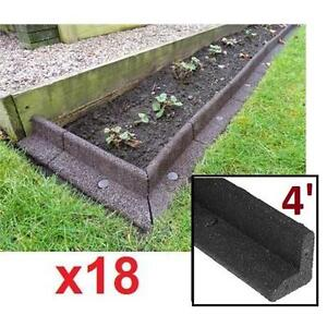 18 NEW* LANDSCAPE EDGING SECTION 4' ECOBORDER BROWN- 4' SECTIONS 103983272