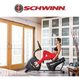 NEW SCHWINN 230 RECUMBENT BIKE 100514 188707166 DUAL TRACK  LCD EXERCISE EQUIPMENT MACHINE CARDIO