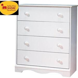 NEW* SOUTHSHORE 4 DRAWER CHEST WHITE FURNITURE BEDROOM HOME DECOR  80752110