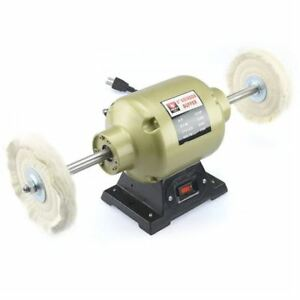 NEIKO 2.35 AMP 6-INCH BENCH BUFFER AND GRINDER, 1/3 HP INCLU