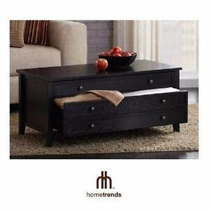 NEW* HOMETRENDS COFFEE TABLE BLACK ASH FINISH - HOME - LIVING ROOM - FURNITURE  84229509