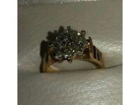 18 ct gold diamond ring size L
