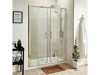 1400 shower enclosure and stone resin tray