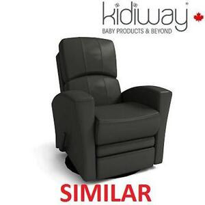 NEW KIDIWAY LEATHER GLIDER - 127796795 - GREY BONDED FULL RECLINER