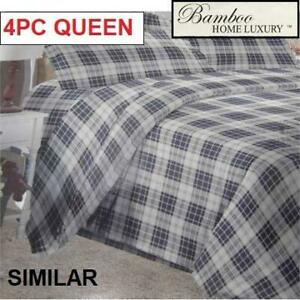 NEW BAMBOO 4PC BED SHEET SET QUEEN 1122K 238746641 HOME LUXURY 9500 QUEEN DEEP POCKET WRINKLE FREE BEDDING BEDROOM 10...