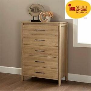 NEW* SS 5-DRAWER DRESSER CHEST SOUTH SHORE - RUSTIC OAK - HOME - BEDROOM - FURNITURE - STORAGE  85294860