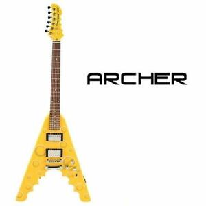 NEW* ARCHER CHEESE WEDGE GUITAR LYING CHEESE WEDGE ELECTRIC GUITAR - MUSIC INSTRUMENT STRINGS GUITARS 96654762