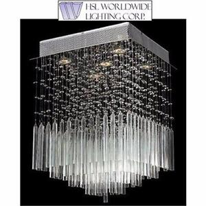 NEW WORLDWIDE L. CEILING LIGHT WORLDWIDE LIGHTING - 5-LIGHT CHROME FINISH - CEILING LIGHTING CHANDELIER  82713818