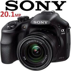 USED SONY ALPHA 20.1MP CAMERA a3000 Digital Camera with 18-55mm Lens - ELECTRONICS 106118433