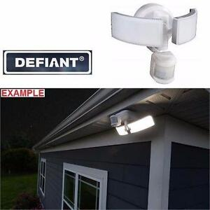 NEW DEFIANT MOTION SECURITY LIGHT   270 DEGREE OUTDOOR - LED - WHITE - BLUETOOTH CAPABILITY SECURITY LIGHTING 97226595