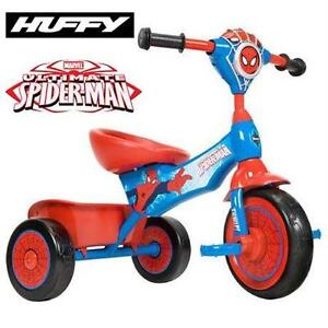 NEW HUFFY SPIDERMAN FOLDING TRIKE TRICYCLE - LIGHTS & SOUNDS - KIDS' Toys  Pedal Push