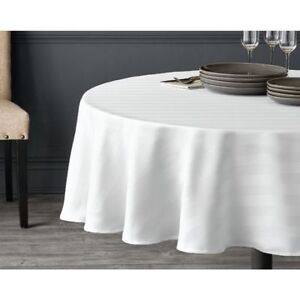 NEW: Round Microfiber Stripe Tablecloth (70 inch)  - $10