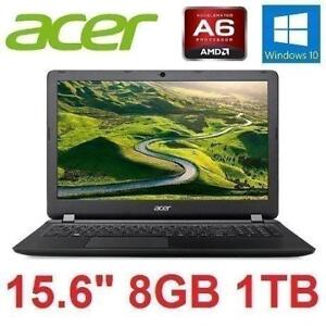 "REFURB ACER ASPIRE NOTEBOOK 15.6"" ES1-523-6312 171963552 AMD A6-7310 Quad-Core 1TB HDD 8GB RAM WIN10 LAPTOP COMPUTER ..."