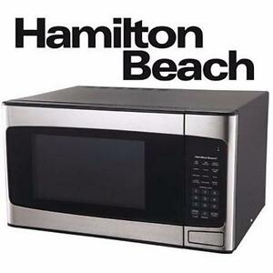NEW HAMILTON BEACH SS MICROWAVE   1.1 CU FT - STAINLESS STEEL - APPLIANCES HOME KITCHEN APPLIANCE 95026407
