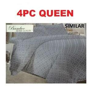 NEW BAMBOO 4PC BED SHEET SET QUEEN HAPS3500Q 238758604 HOME LUXURY 9500 QUEEN THREAD COUNTS WRINKLE FREE BEDDING BEDR...