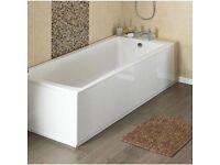 NEW White Bath Panel - Victorian Plumbing 1500mm