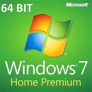 NEW MICROSOFT WINDOWS 7 SOFTWARE COMPUTER WINDOWS DVD DISC SOFTWARE - HOME PREMIUM 64 BIT