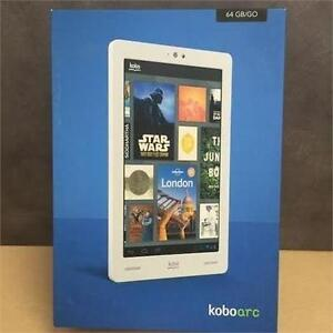 "Kobo ARC TABLET 64GB 7"" TOUCHSCREEN ANDROID W. CAMERA - NEW OPEN BOX"