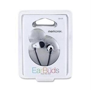 Memorex - CB25 Stereo Earbuds Black