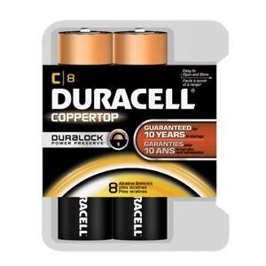 Duracell Coppertop C 8-Pack Duralock Batteries BRAND NEW