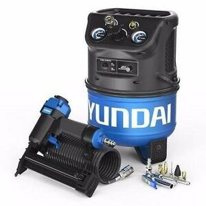 USED HYUNDAI COMPRESSOR NAILER KIT Power Equipment 2 Gallon Air Vertical Style Electric Air Compressor TOOLS 93752710