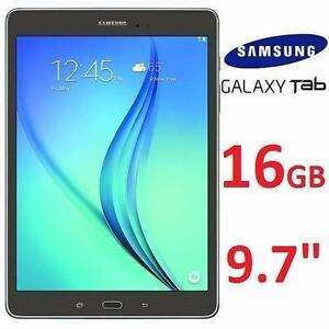 """REFURB SAMSUNG GALAXY TAB A 9.7""""   WIFI TABLET - 16GB - SMOKY TITANIUM - 2  85522628"""