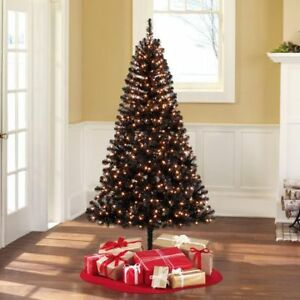 6.5' Black ChristmasTree with lights