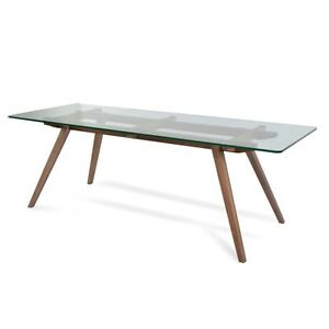 DESIGNER STICOTTI DINING TABLE - WALNUT BASE Glen Alpine Campbelltown Area Preview